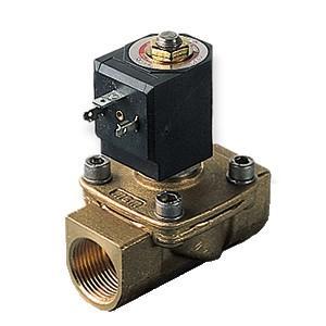 2/2-way solenoid valve in brass