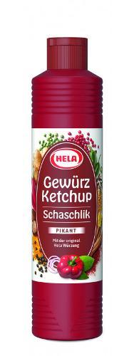 Hela Gewürz Ketchup Schaschlik pikant, 800 ml, Vegan