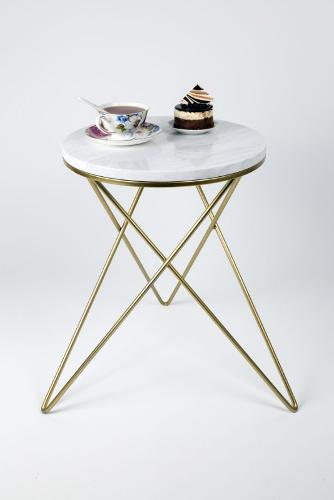 Volakas Marble-gold Color Star Table With Legs