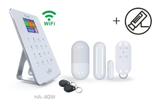 Burglar alarm app monitor home security system wireless