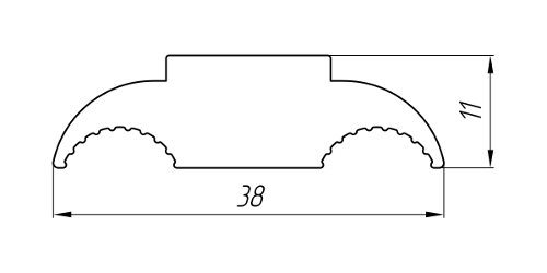 Aluminum Profile For Electrical Purposes Ат-2860