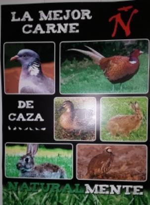 carnes de caza conejo, perdiz,faisan,becada,pato,liebre