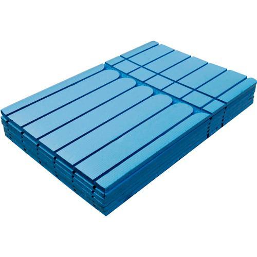 Système de bois chaud-facile-chaud bleu