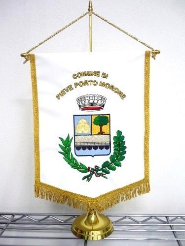 Gagliardetti ricamati con logo personalizzato