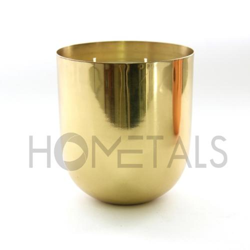 Large golden candle containers with scented soy wax