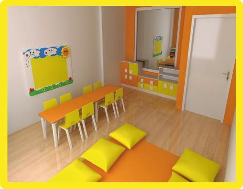 Anaokulu Renkli Sınıf Mobilyaları