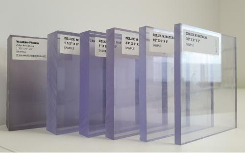 Zelux M: Lastre e barrein policarbonato trasparente