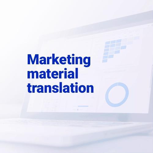 Marketing material translation