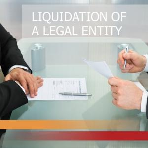 Liquidation of a legal entity