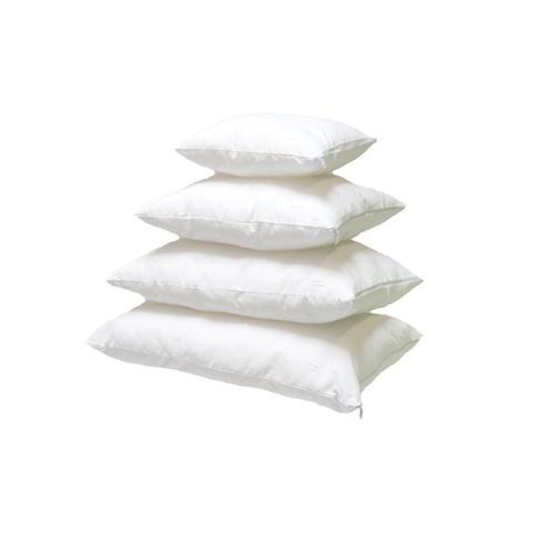 Baumwolle Kissen-Inlett Weiß mit Reißverschluss