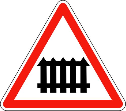 Panneau A7 Passage À Niveau Avec Barrières