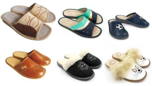 Pantofle domowe damskie, męskie i dziecięce