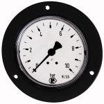 Standard pressure gauge, front ring, G 1/4, 0-60 bar, 63