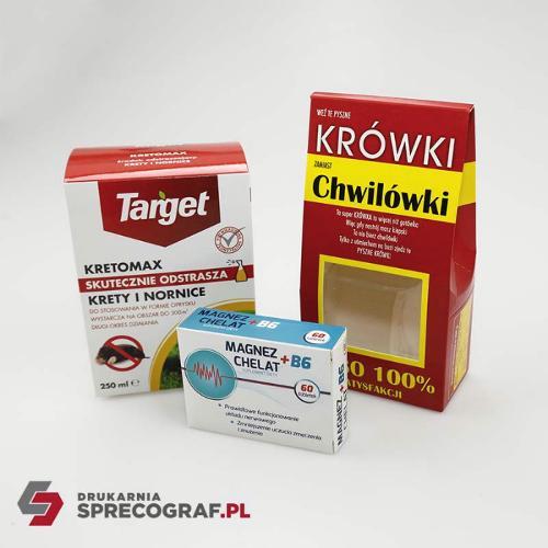 Boîtes en papier pour produits pharmaceutiques