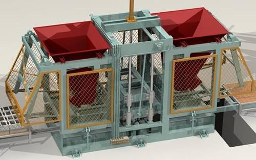 Concrete block and interlock making machinee