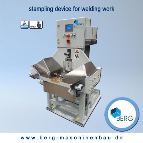 Stampling device for welding work