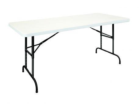 Table polypro 1.83 x 76 cm Réglable en hauteur