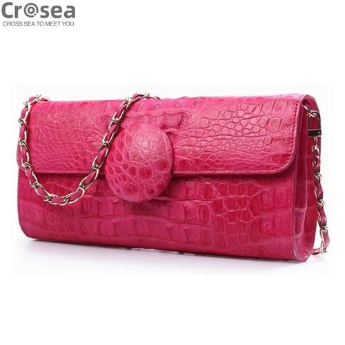 Exotic fashion genuine crocodile leather clutch bag