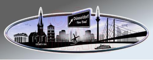 Aufkleber Skyline Düsseldorf