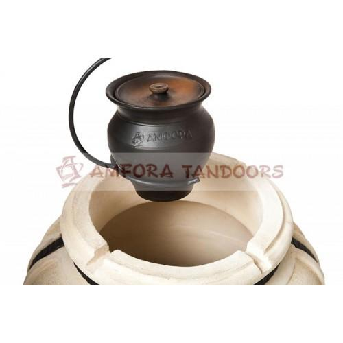 Ceramic pot  with a lid (for tandoor)