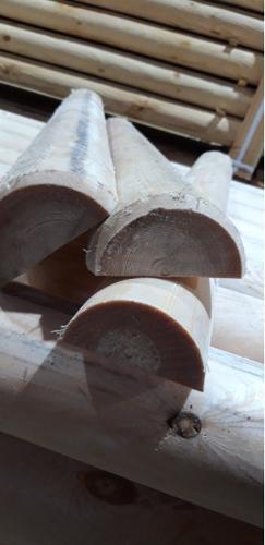 Half-round railes