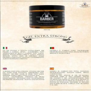 BARBER GEL EXTRA STRONG FORMATO PROFESSIONALE 500 ML