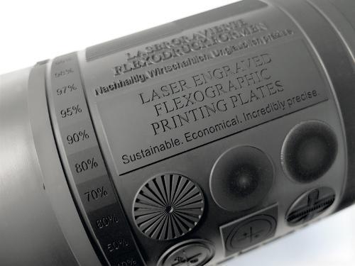 Laser engraved elastomer printing plates