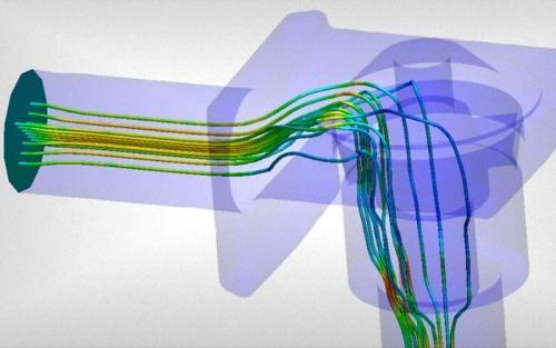 Berechnung Strömungs-, Druck- und Temperaturverteilung