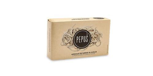 Surimi Elvers in Garlic Sauce- Pepus
