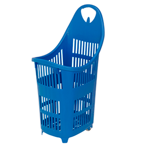 Vertical basket with wheels