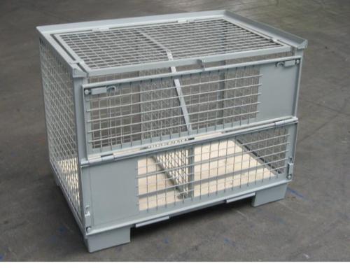 Gitterbox Mit Deckel Und Trennwand