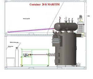 Generator de abur si apa supraincalzita cu functionare pe pe
