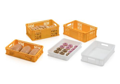 Containers for bakery, delicatessen, confectionery boxes