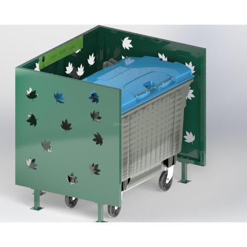 Cache Poubelle Conteneur Automne En U Recyclage Verre
