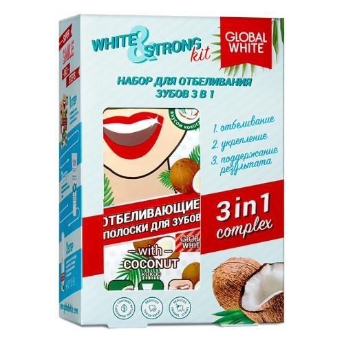 TEETH WHITENING KIT WHITE&STRONG 3IN1