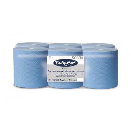 Bobine essuie tout pure ouate bleue micro gaufrée 450...