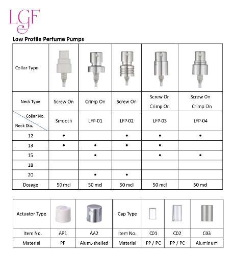 Low Profile Perfume Pumps