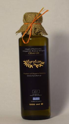 Organic, High-Phenolic, Extra Virgin Olive Oil Myrolion