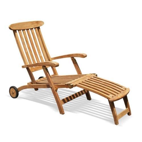 loungeset tafel met 2 deckchair teak hout