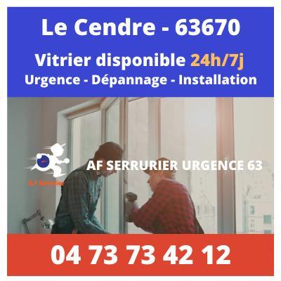 Vitrier sur Le Cendre – 24h/24 et 7j/7