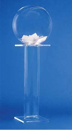 Urne Boule De Cristal 40 Cm Sur Pied Colonne