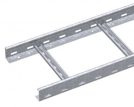 Cable ladder with perforated side rail of side height 60 mm