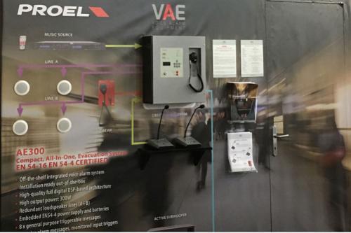 Proel AE300, sistem compact de evacuare vocala si public add