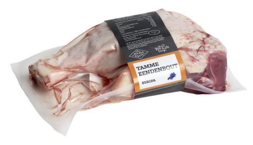 Vakuumverpacktes Fleisch banderolieren