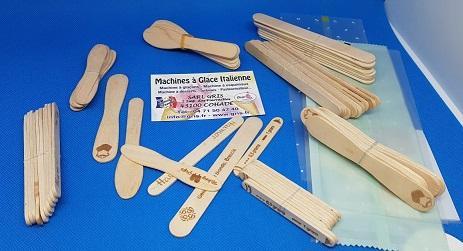 Bâtonnets en bois pour glaces bâtonnets