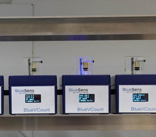 Precise gas volume measurement - BlueVCount