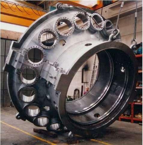 Brennkammergehäuse für Turbinen