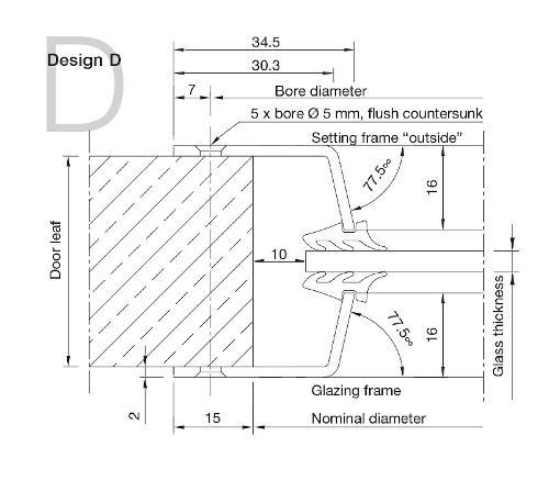 Aluminium Porthole Design D