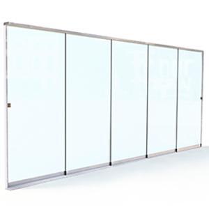 Frameless Sliding Glass Walls