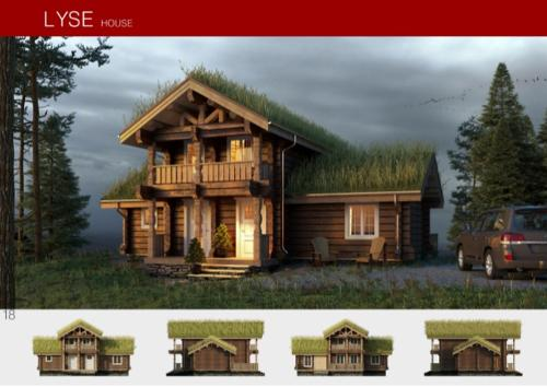 Prefabricated wooden house LYSE